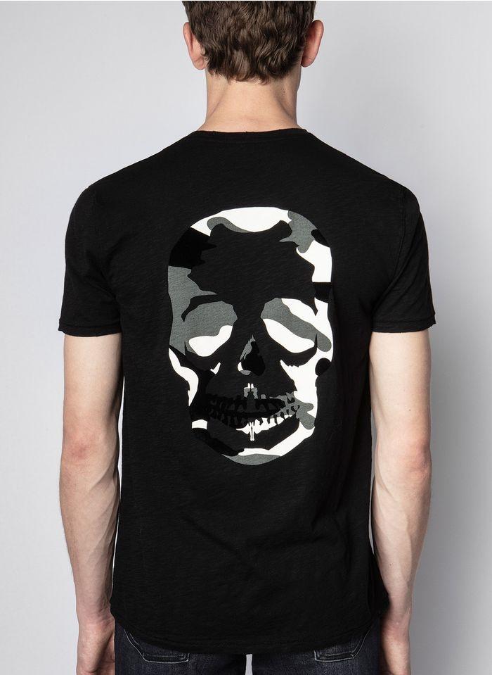 ZADIG&VOLTAIRE Rundhals-T-Shirt aus Baumwolle, Regular Fit in Schwarz