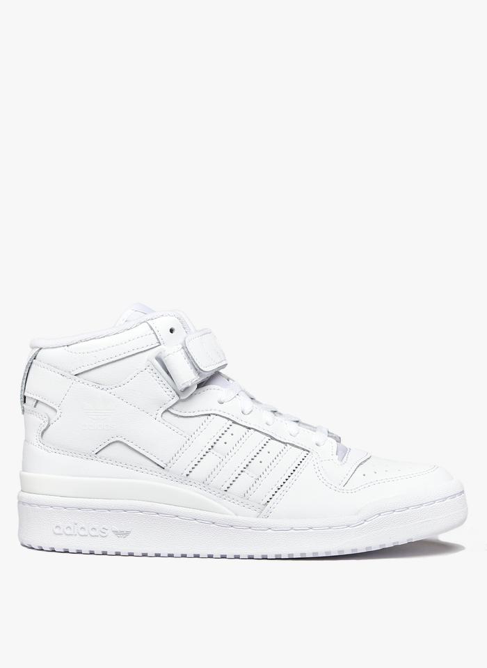 ADIDAS White Adidas Forum Mid
