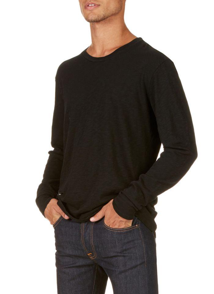 AMERICAN VINTAGE Black Regular-fit round-neck cotton T-shirt
