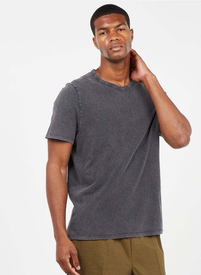 AMERICAN VINTAGE Grey Regular-fit round-neck cotton T-shirt