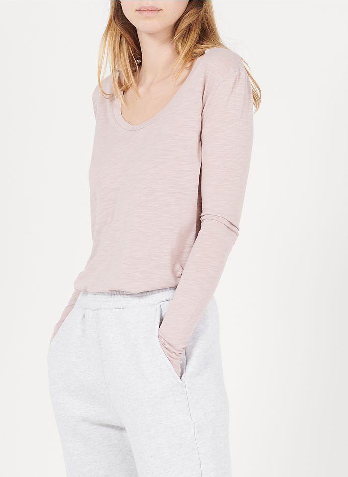 AMERICAN VINTAGE Pink Round-neck cotton-blend T-shirt
