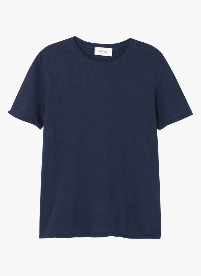 AMERICAN VINTAGE Blue Round-neck cotton T-shirt