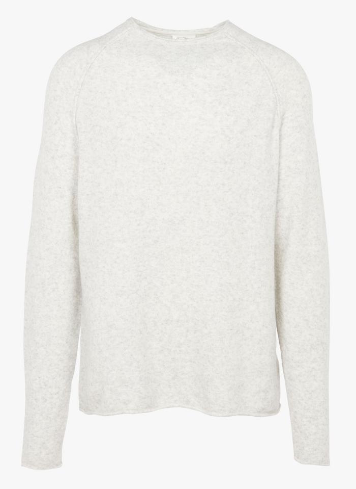 AMERICAN VINTAGE Grey Round-neck regular fit wool-blend sweater