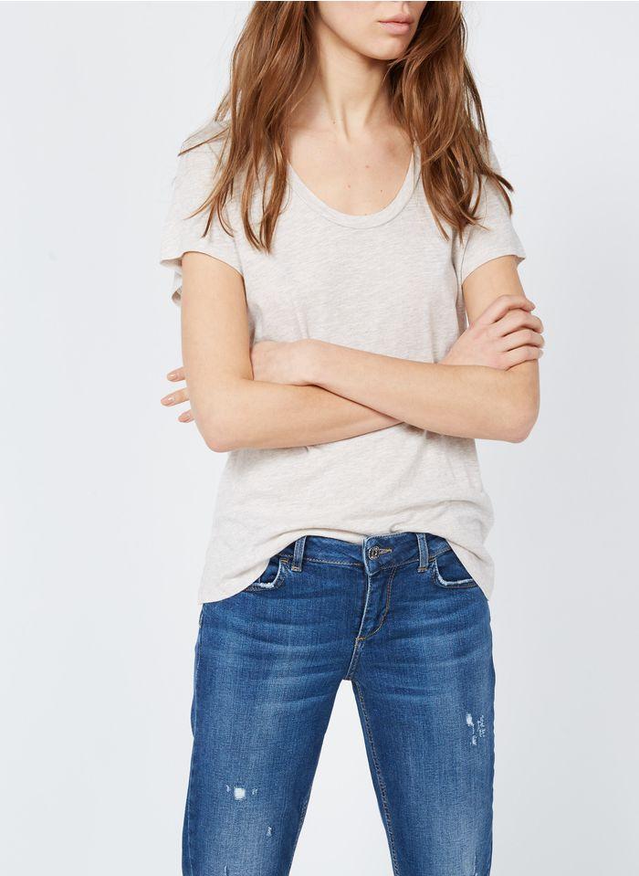 AMERICAN VINTAGE  Short-sleeved round-neck cotton-blend T-shirt