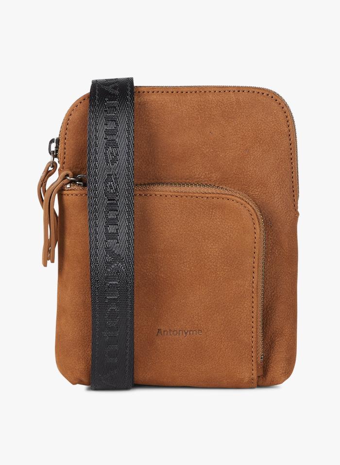 ANTONYME Beige Leather bag with shoulder strap