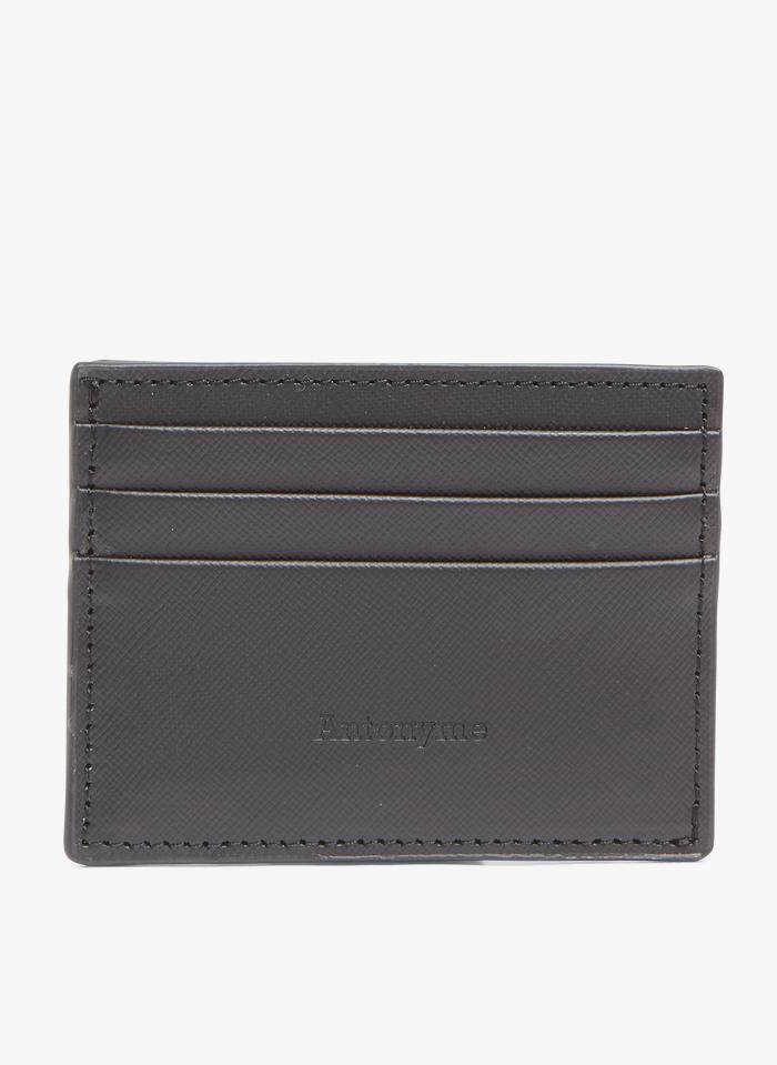 ANTONYME Black Leather card holder