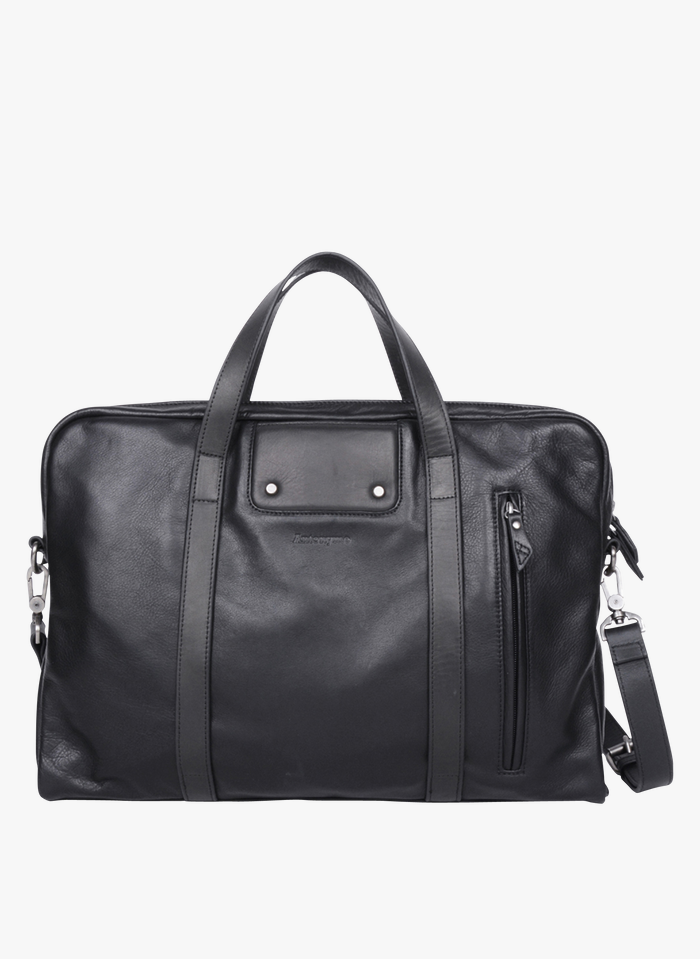 ANTONYME Black Leather document holder