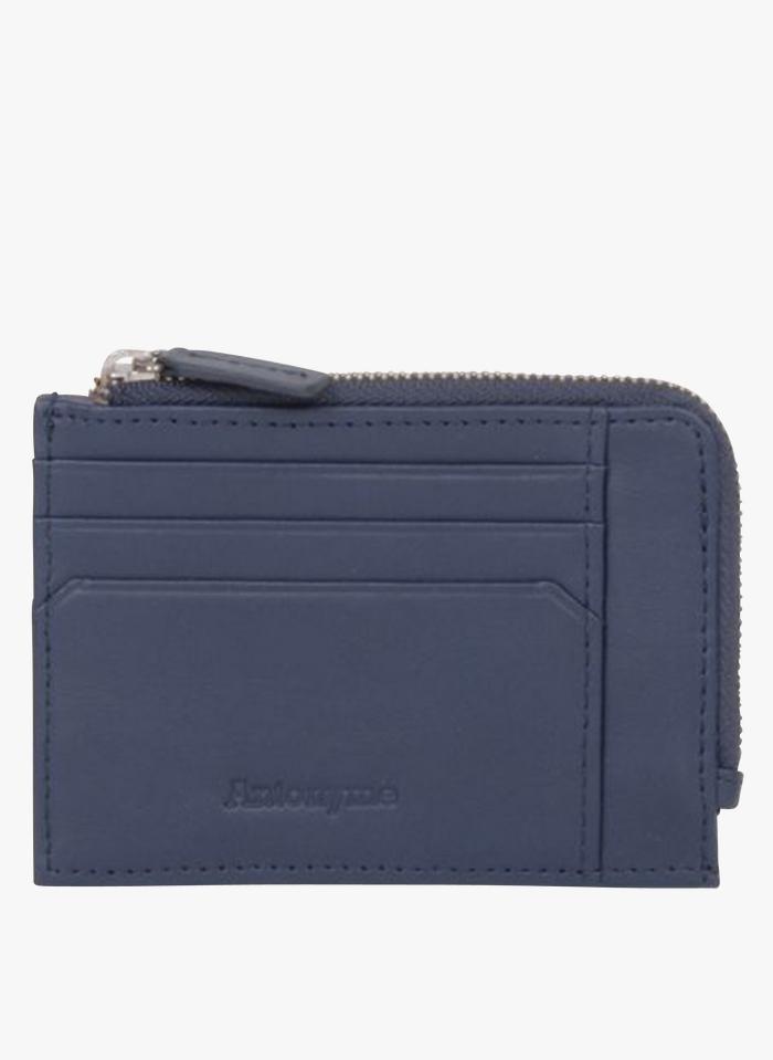 ANTONYME Blue Porte-cartes en cuir