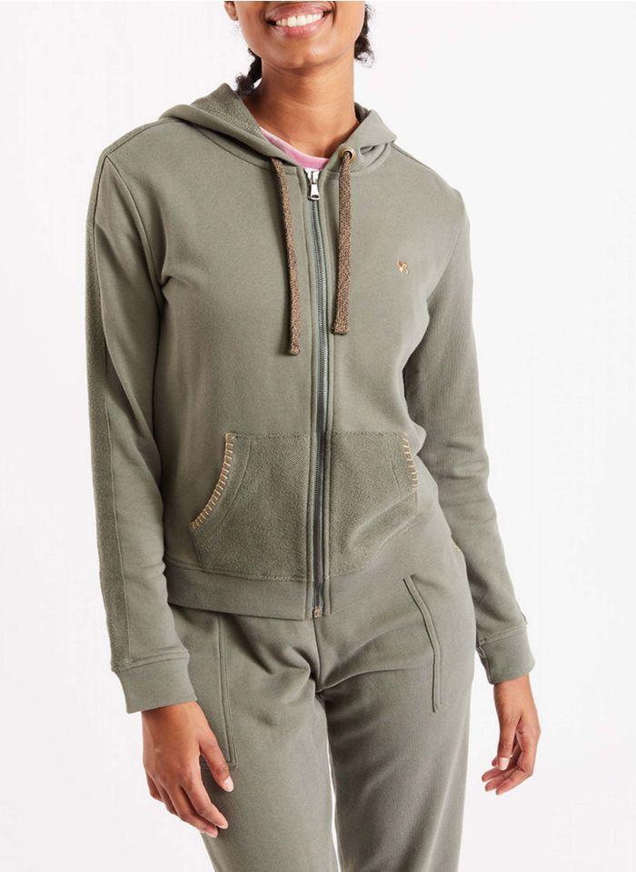 BANANA MOON Khaki Cotton hoodie