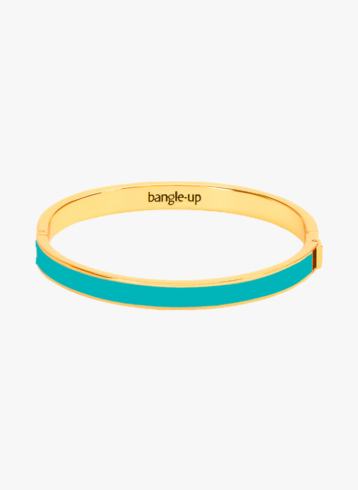 BANGLE UP Blue Fine gold-plated and enameled metal bangle
