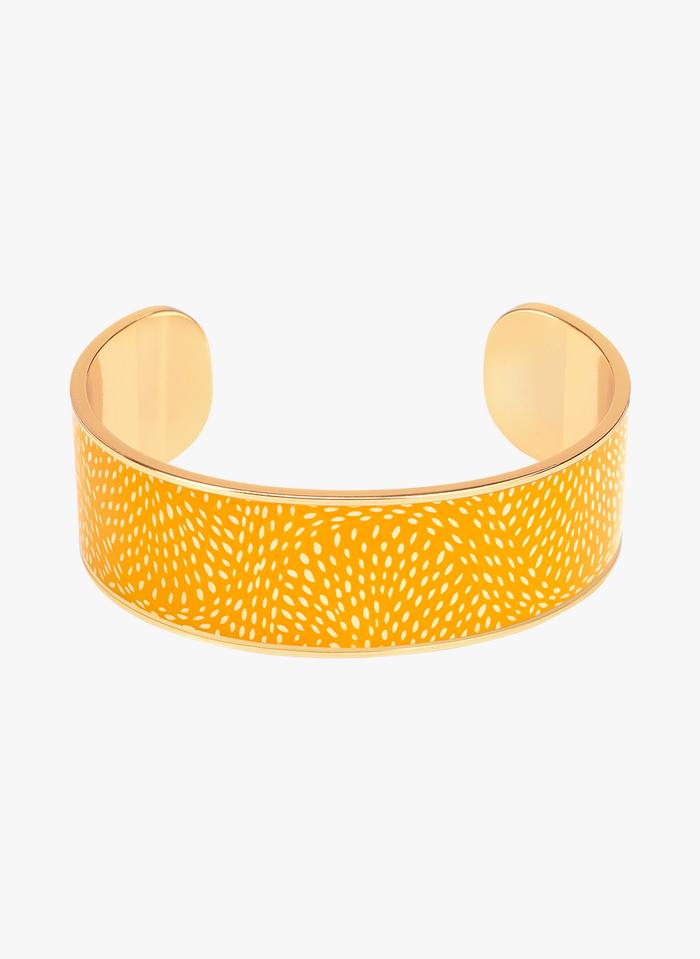 BANGLE UP Yellow Printed enameled bangle