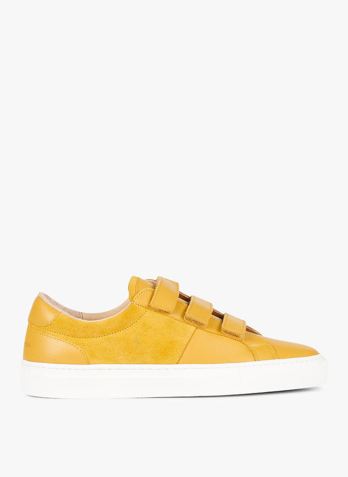 CANAL SAINT MARTIN Yellow Leather low-top sneakers