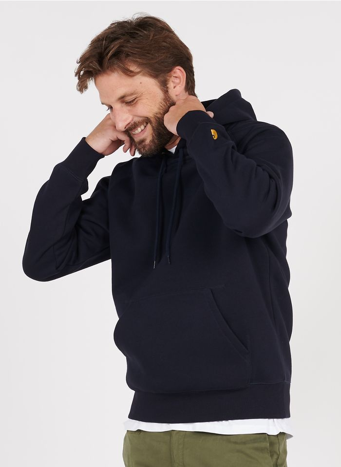 CARHARTT WIP Blue Regular-fit cotton hoodie