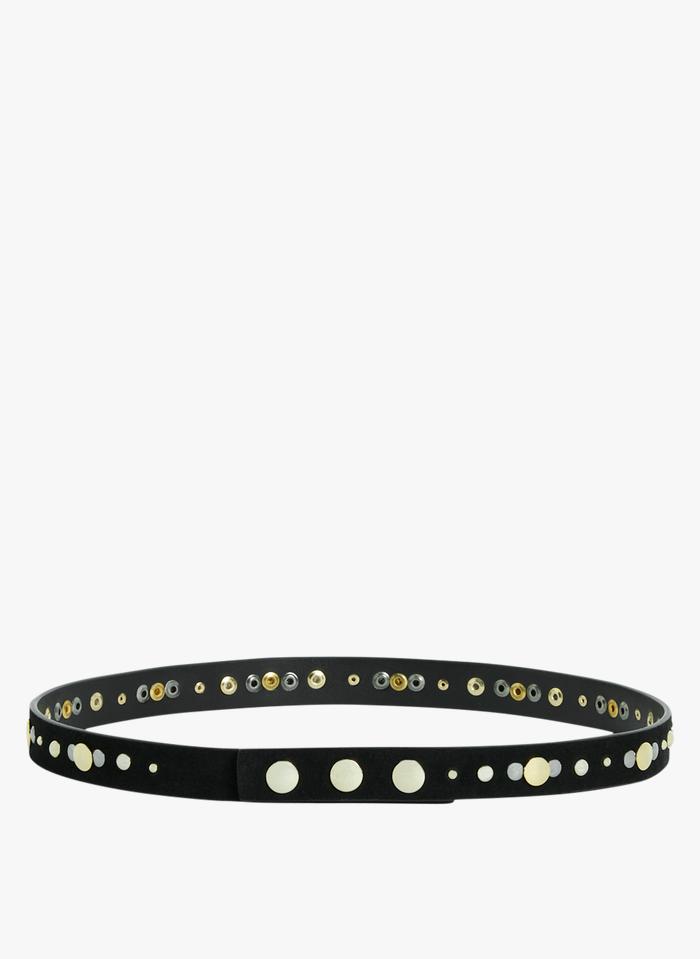 CLAUDIE PIERLOT Black Studded leather belt