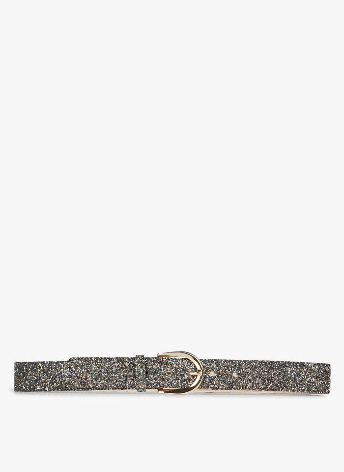 DES PETITS HAUTS Blue Belt with glitter buckle