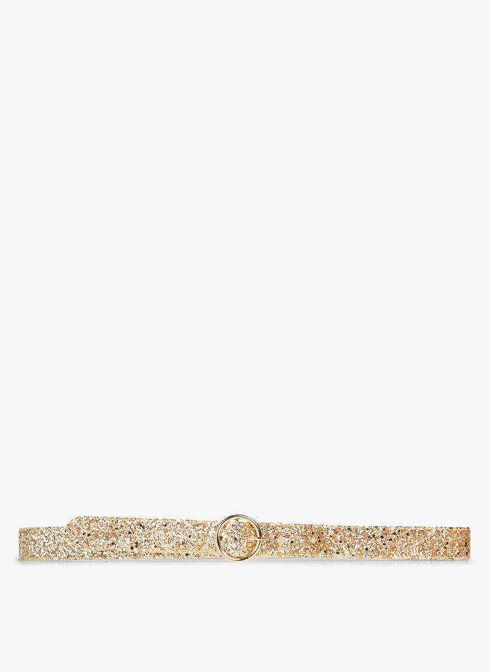DES PETITS HAUTS Golden Belt with glitter buckle