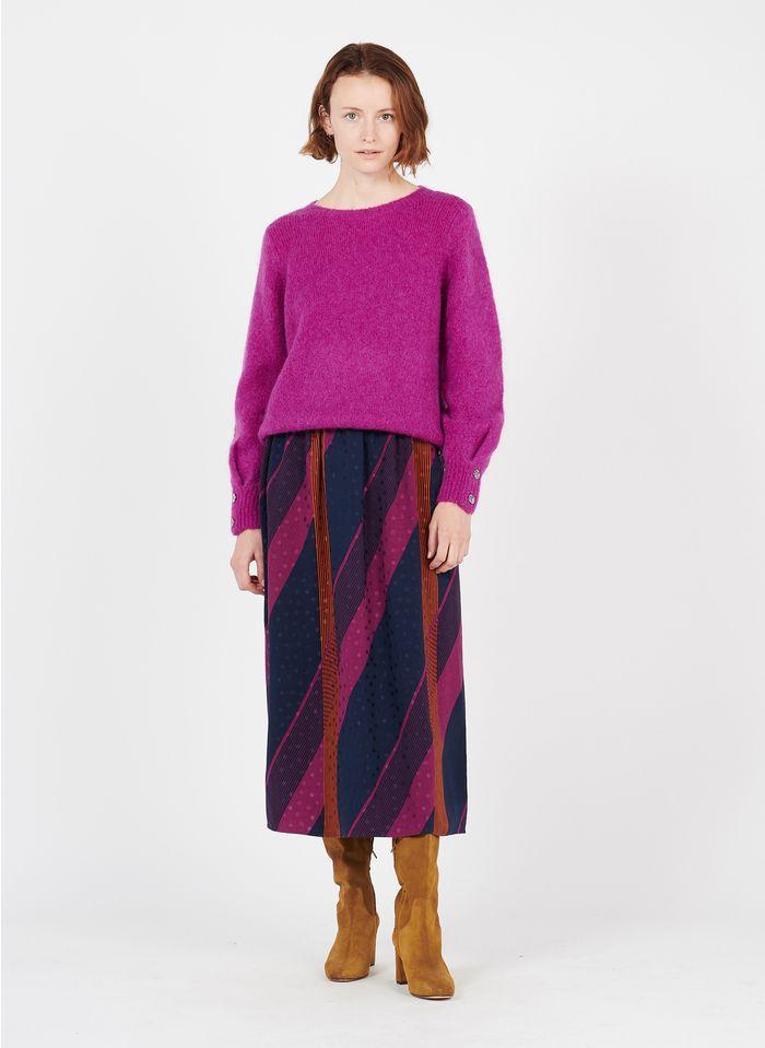 DES PETITS HAUTS Multicolored Printed midi skirt