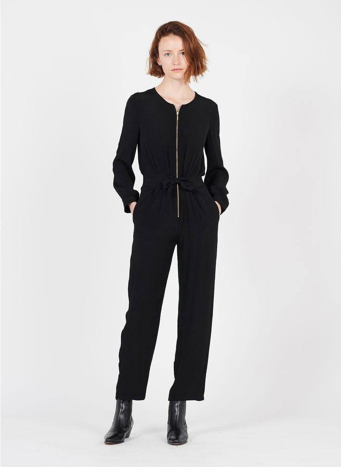 DES PETITS HAUTS Black Round-neck jumpsuit