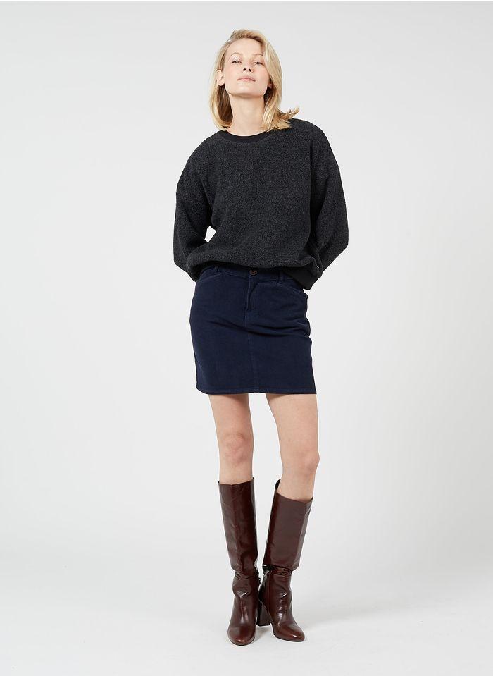 DES PETITS HAUTS Blue Short corduroy skirt