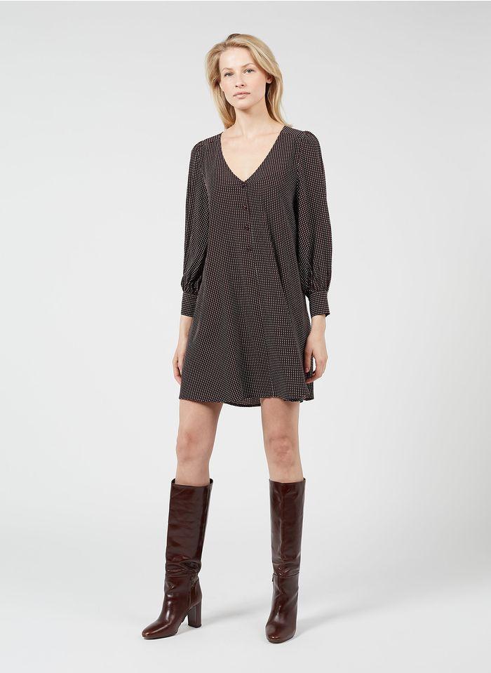 DES PETITS HAUTS  Short printed V-neck dress