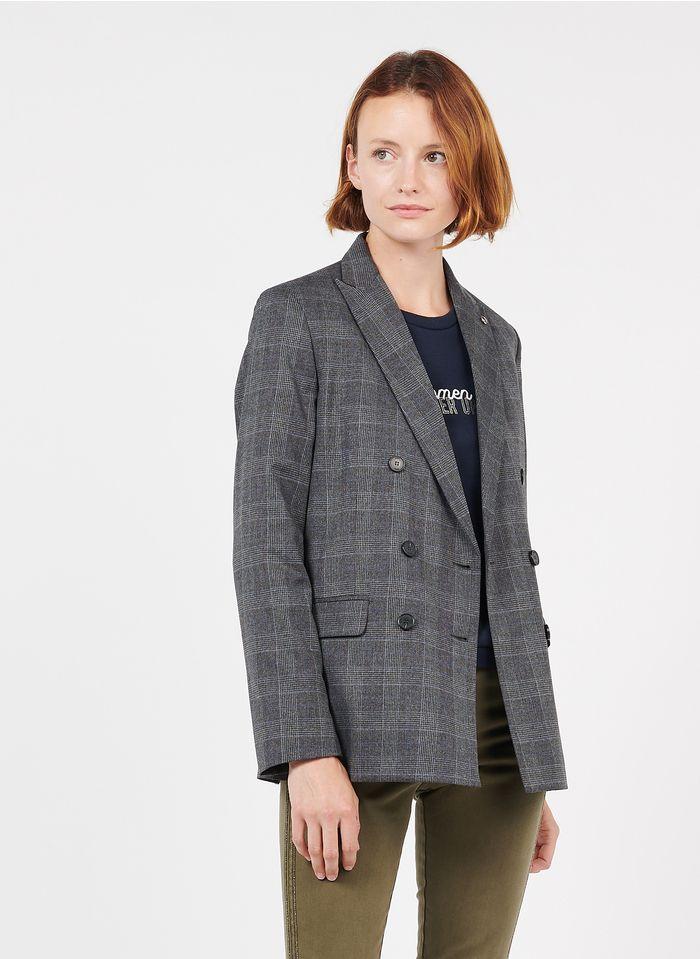IKKS Grey Checked blazer