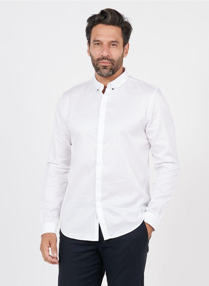 IKKS White Cotton shirt with button-down collar