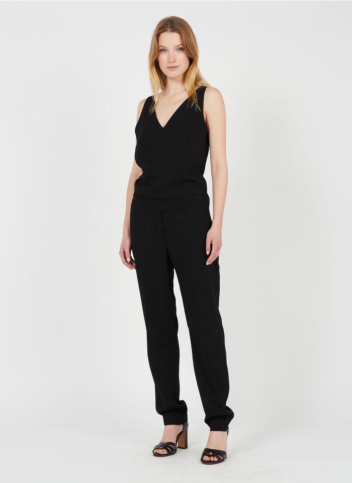 IKKS Black Crepe V-neck jumpsuit