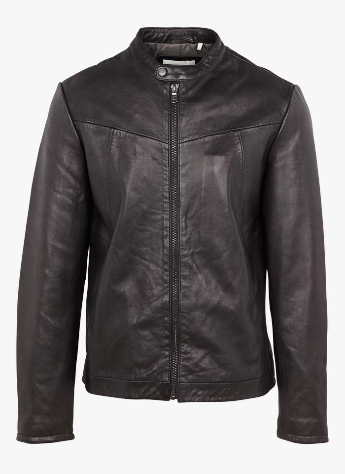 IKKS Black Leather jacket