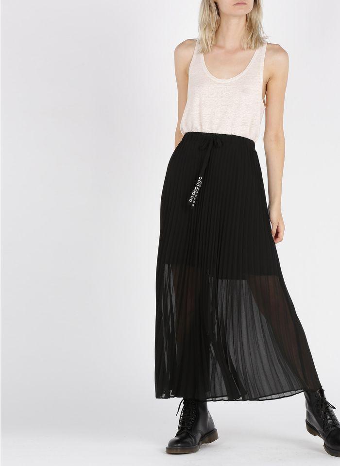 IKKS Black Pleated long skirt