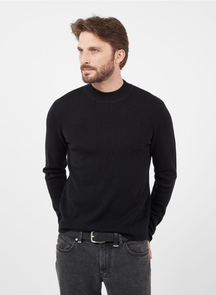 IKKS Black Pull col rond regular fit en laine mélangée