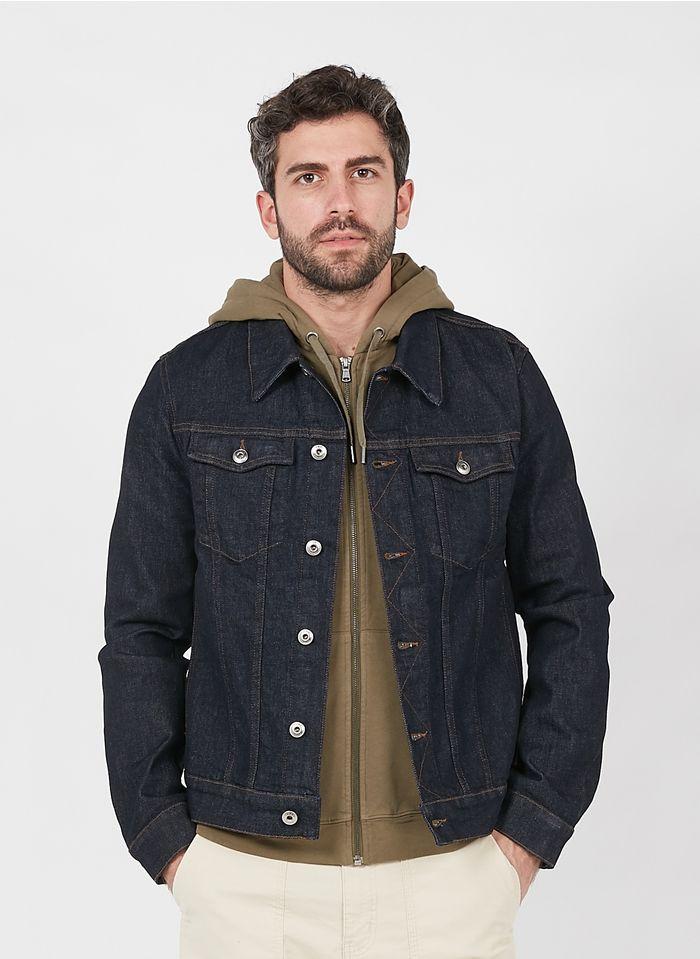 IKKS Blue Regular-fit denim jacket with classic collar
