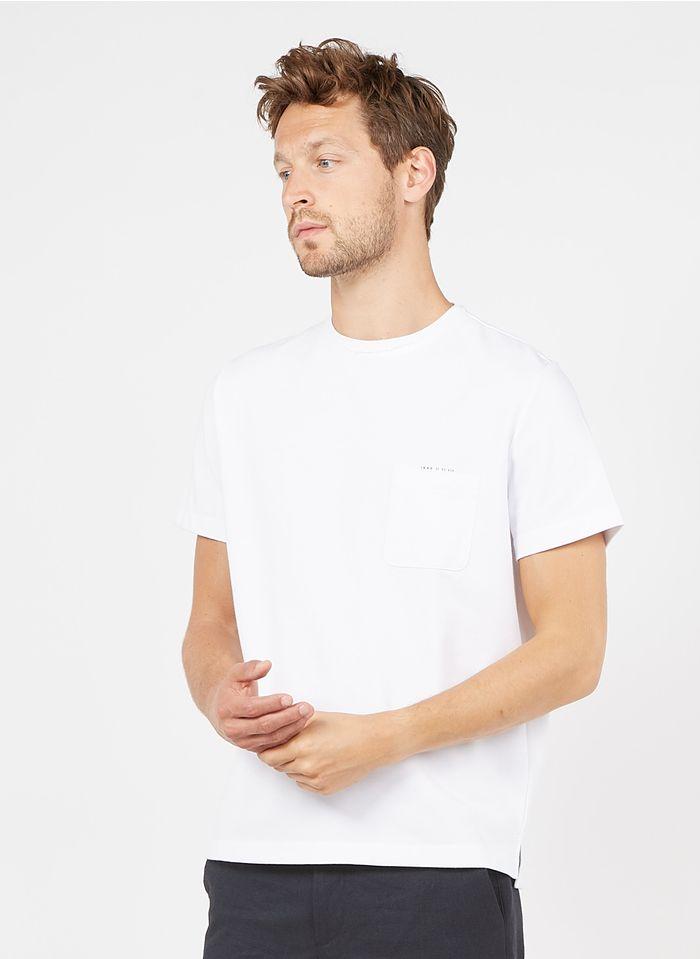 IKKS White Regular-fit round-neck cotton-blend T-shirt