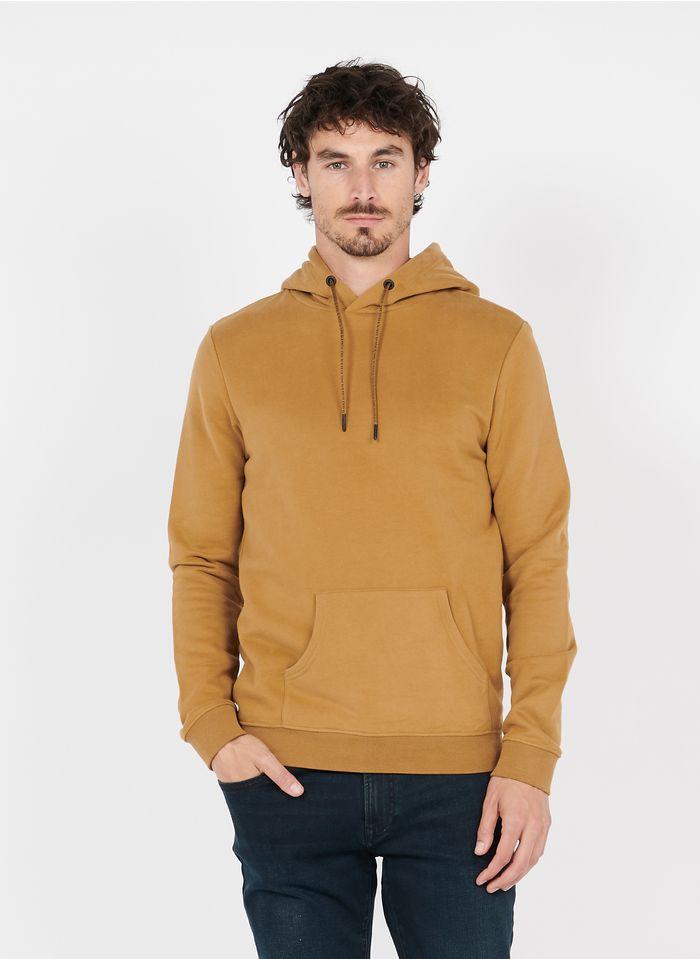 IKKS Brown Regular-fit round-neck cotton hoodie