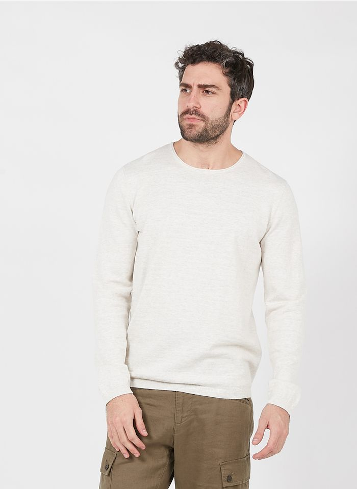 IKKS White Regular-fit round-neck cotton sweater