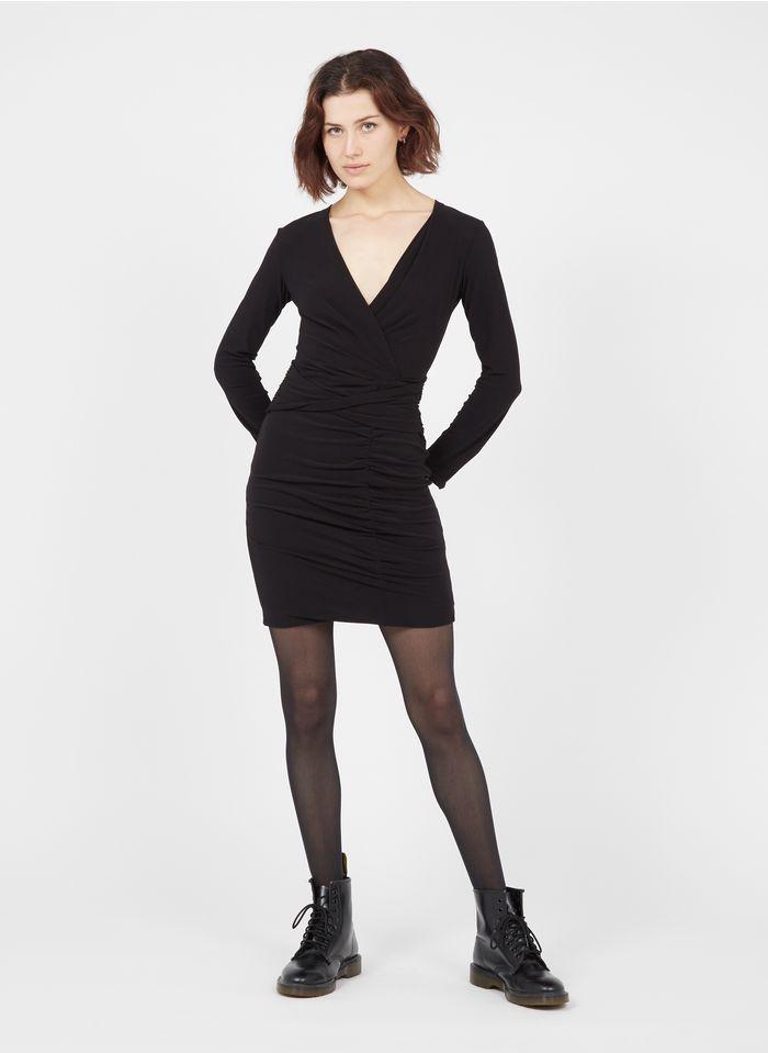 IKKS Black Short draped dress