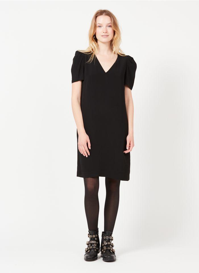 IKKS Black Short V-neck dress with low-cut back