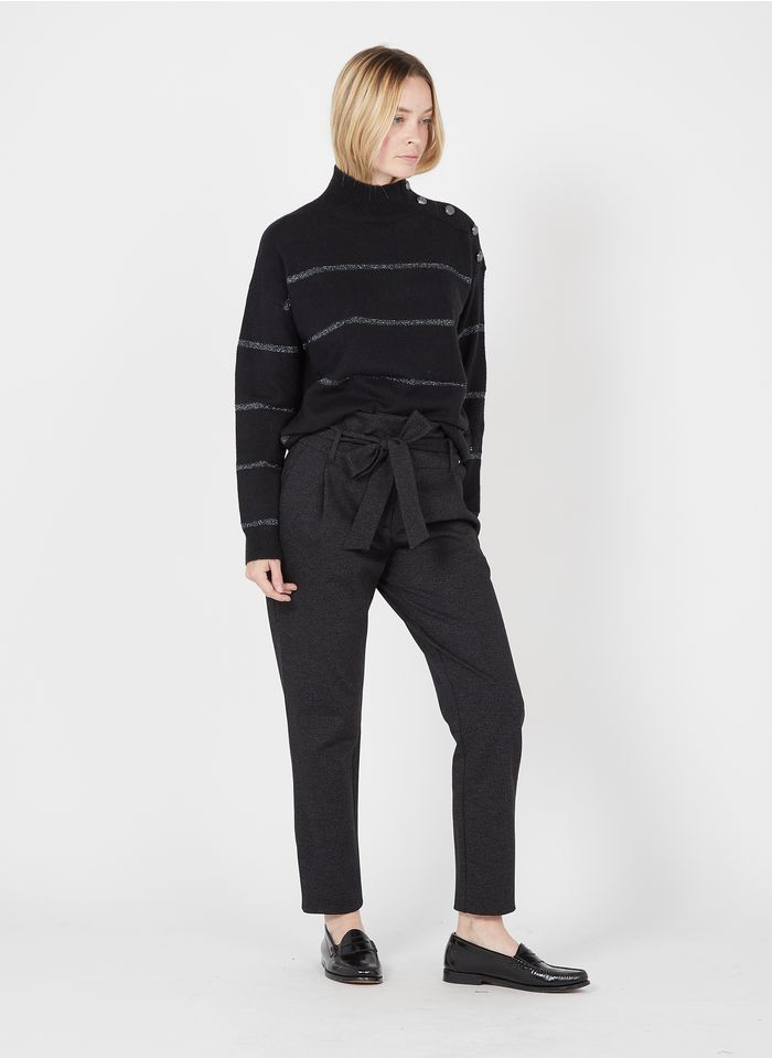 IKKS Grey Straight-cut belted pants