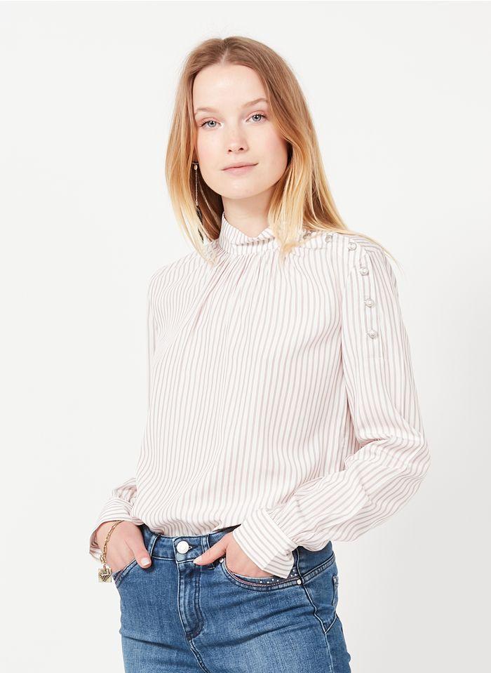 IKKS White Striped high-neck top