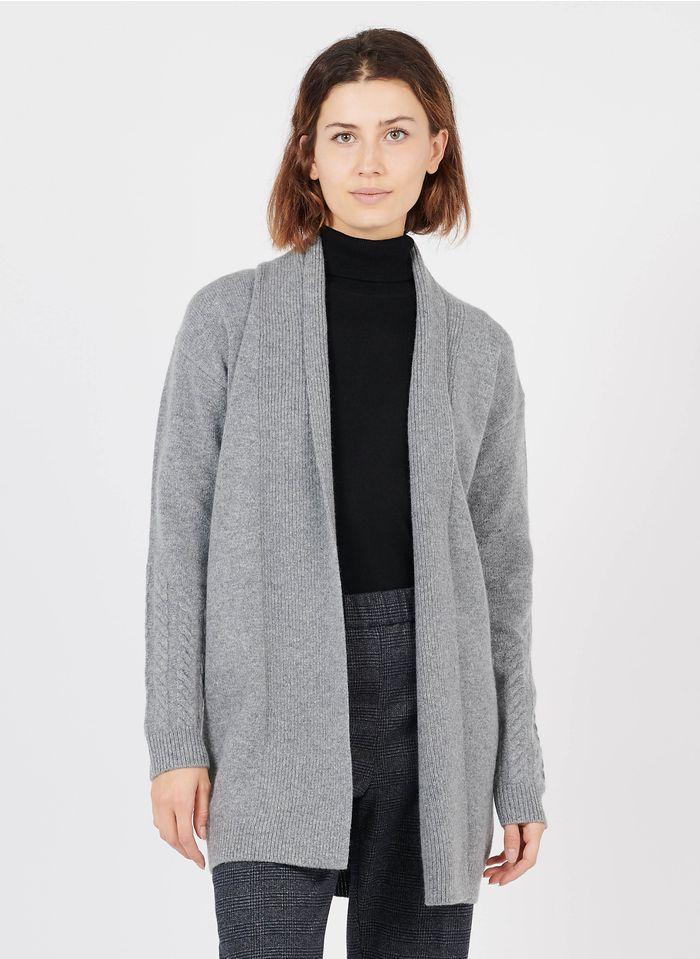 IKKS Grey Wool open cardigan