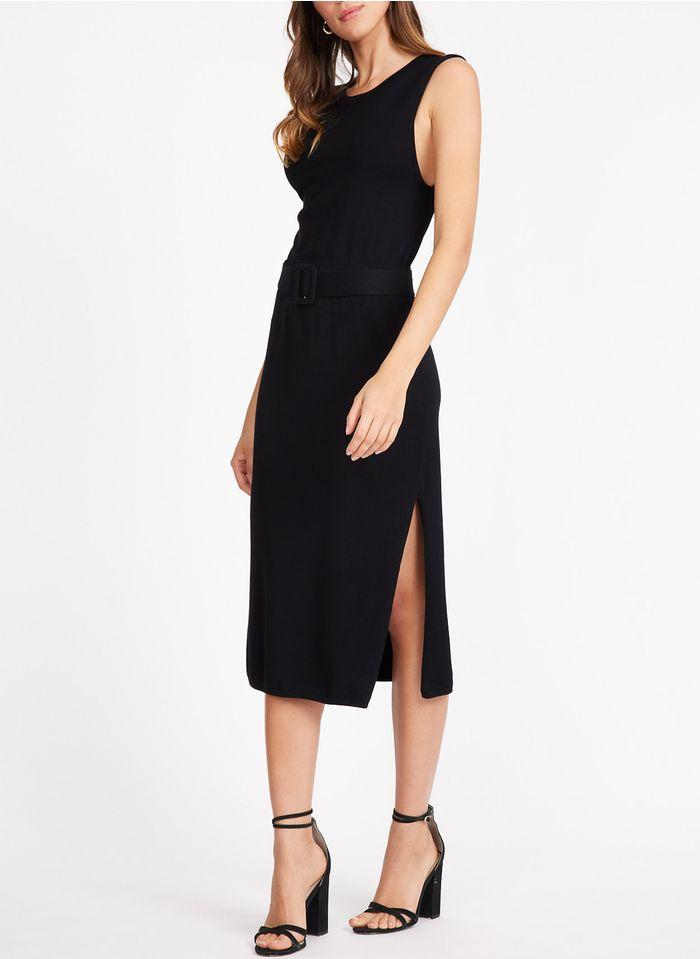 KOOKAI Black Knit midi dress with low-cut back