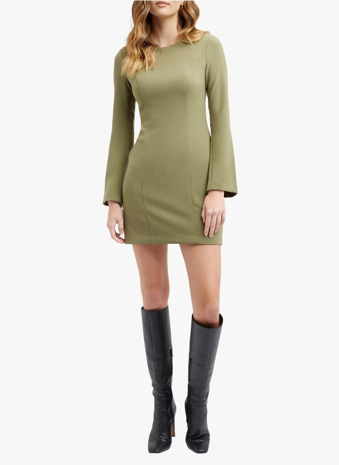 KOOKAI Green Short round-neck dress with low-cut back