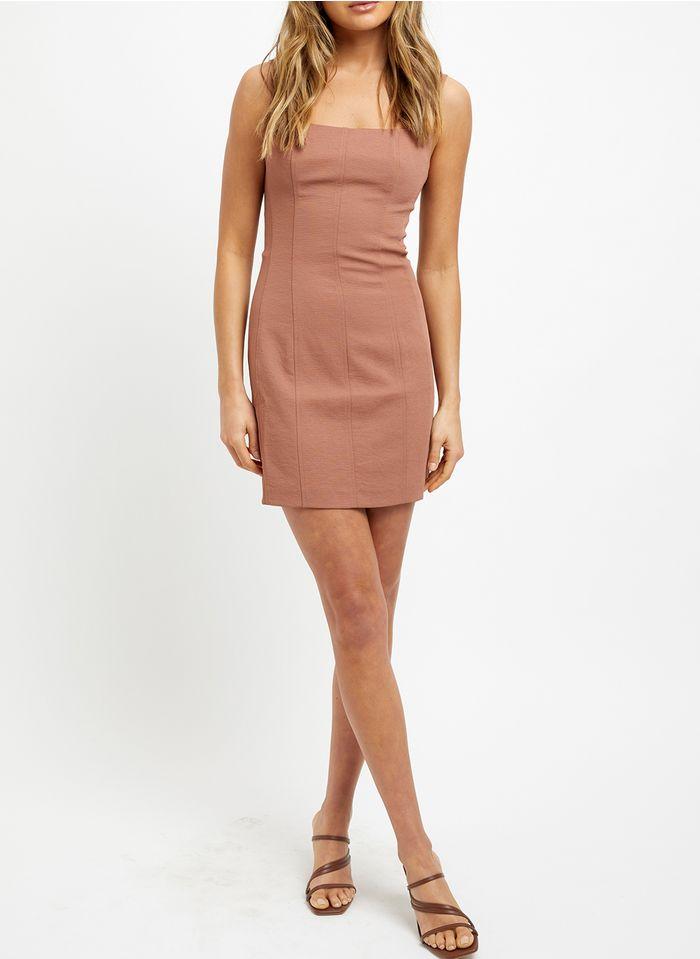 KOOKAI Pink Short sleeveless square-neck dress