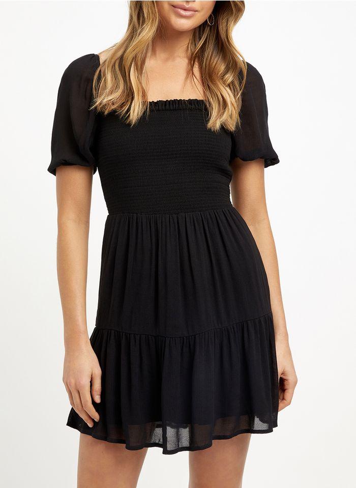 KOOKAI Black Short square-neck dress