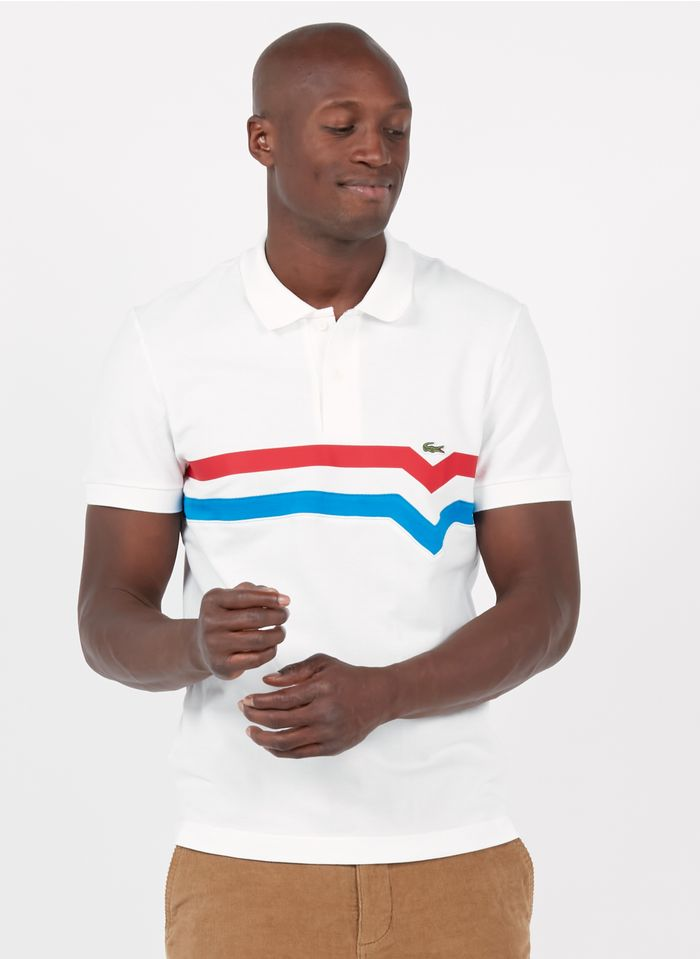 LACOSTE White Regular-fit cotton polo shirt