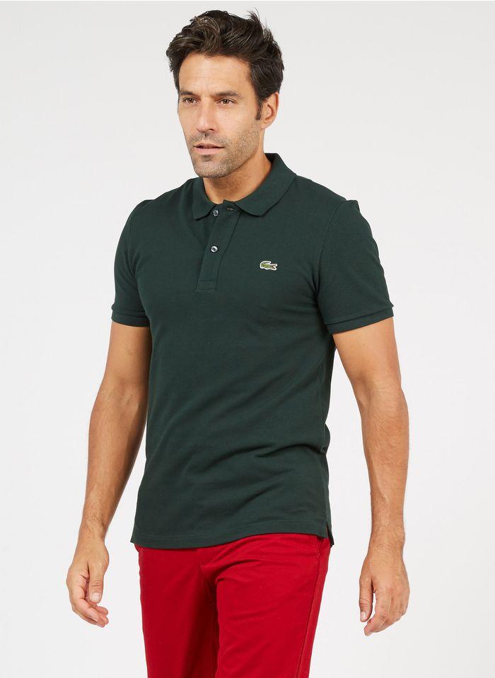 LACOSTE Green Slim-fit cotton piqué polo shirt