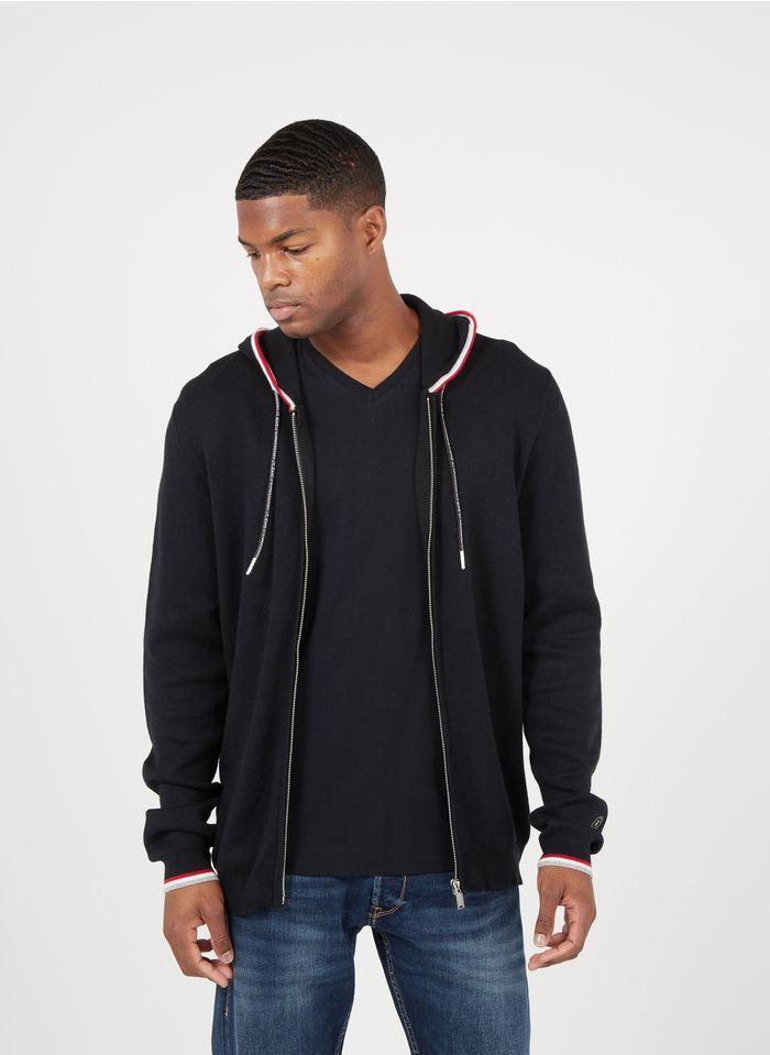 LE TEMPS DES CERISES Black Zip-up cotton-blend regular-fit hoodie