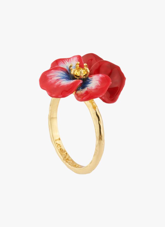LES NEREIDES Red Pansy ring