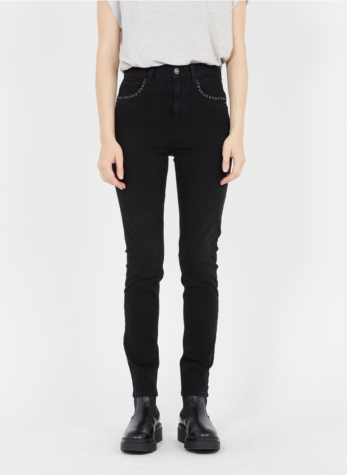LIU JO Black High-rise cotton-blend skinny jeans