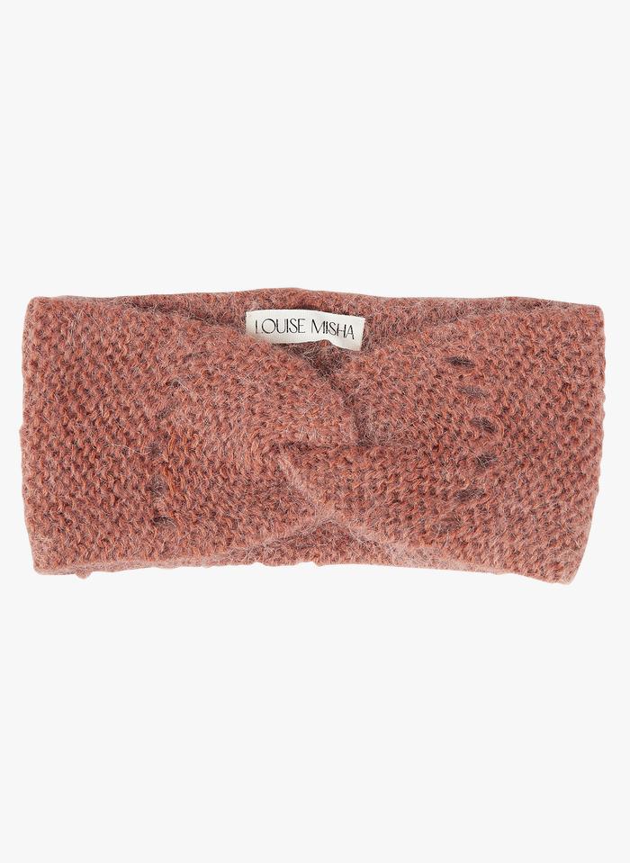 LOUISE MISHA Brown Knitted turban headband