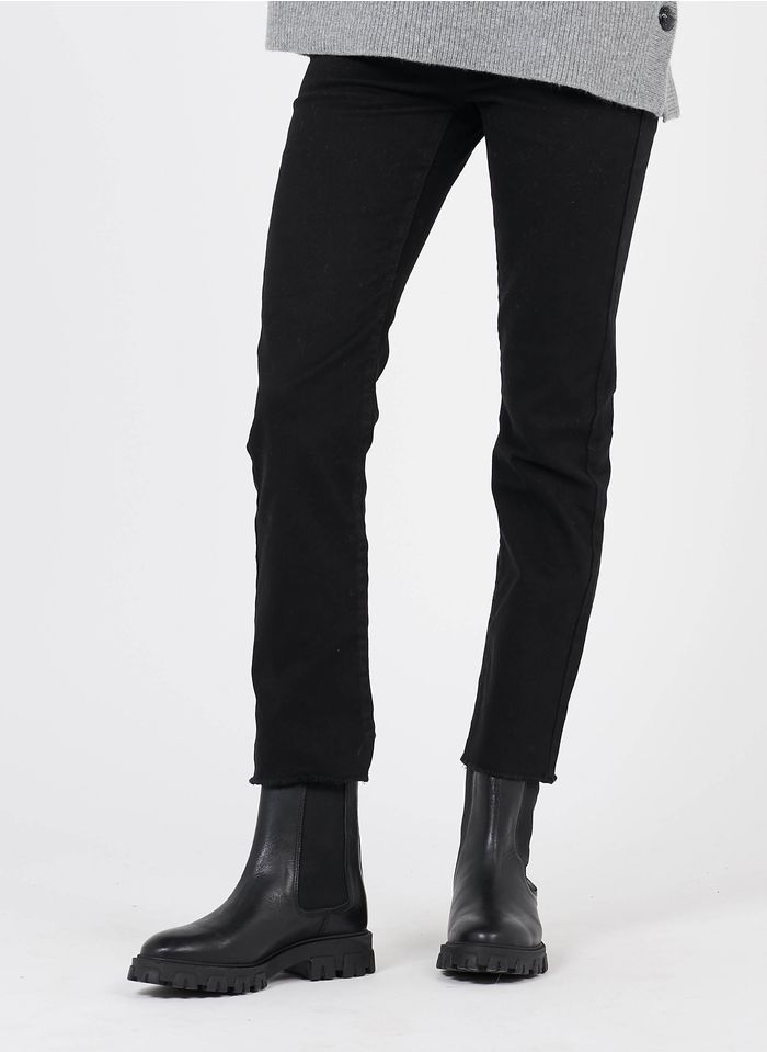 MAISON 123 Black 5-pocket straight 7/8 jeans